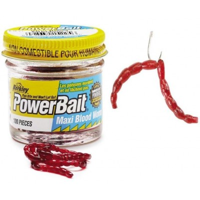 Berkley Blood Worm Mini 150 Pcs