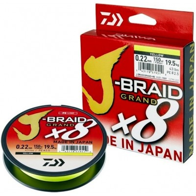Braid Daiwa J-Braid Grand X8 135 m Yellow