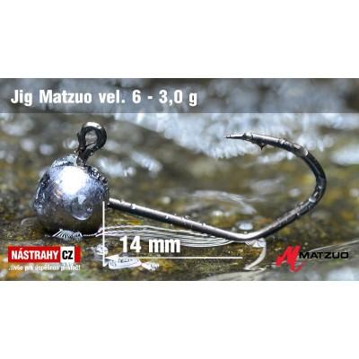 Jigová hlavička Matzuo - háček 6 Bronz 3,0g