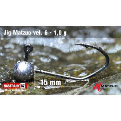 Jig Head Matzuo - hook 6 Bronze 1,0g