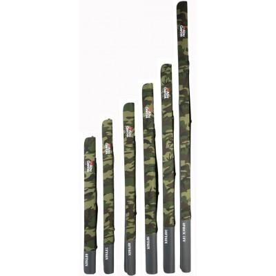 Pouzdro na pruty Abu Garcia Semi Hard Rod Case Camo 140 cm