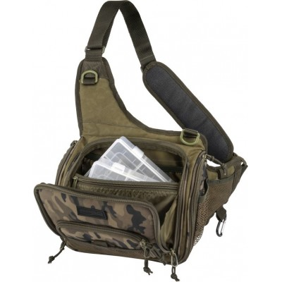 Spro Double Camouflage Shoulderbag + 2 Boxes