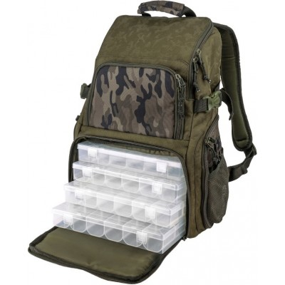 Batoh Spro Double Camouflage Backpack + 4 krabičky