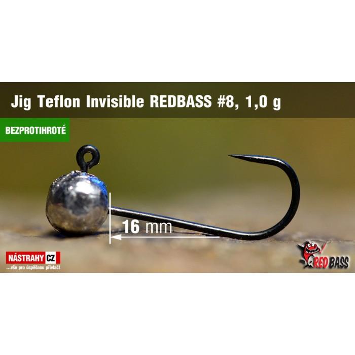 Jig Head Redbass Teflon Invisible Barbless 1 g