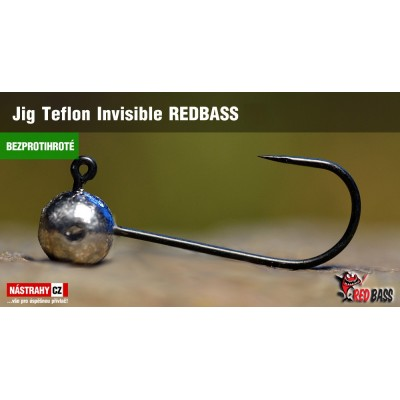 Jig Head Redbass Teflon Invisible Barbless 1 g