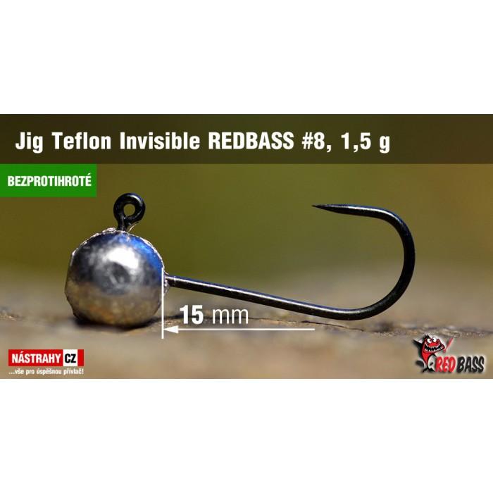 Jig Head Redbass Teflon Invisible Barbless 1,5g 5Pcs