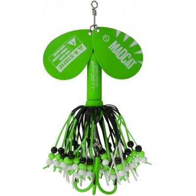 DAM Madcat A-Static Rattlin Teaser Spinner 75 g Green