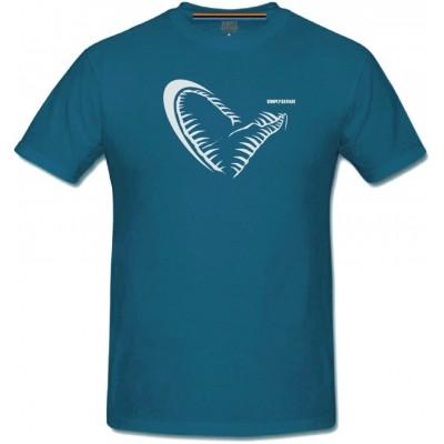 Rybářské tričko Savage Gear Jaw Blue Tee