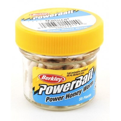 Berkley Gulp Honey Worm 2,5 cm Natural 55 Pcs