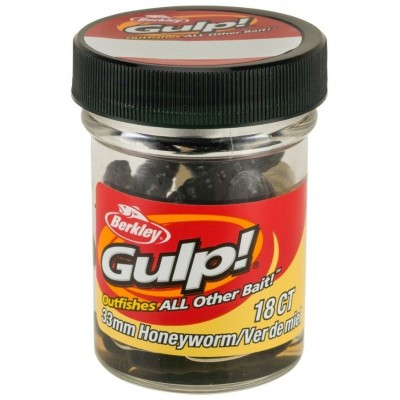 Berkley Gulp Honey Worm 3,3 cm Black 18 Pcs