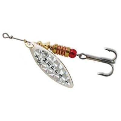 Třpytka Mepps Aglia Long perleťově stříbrná 0
