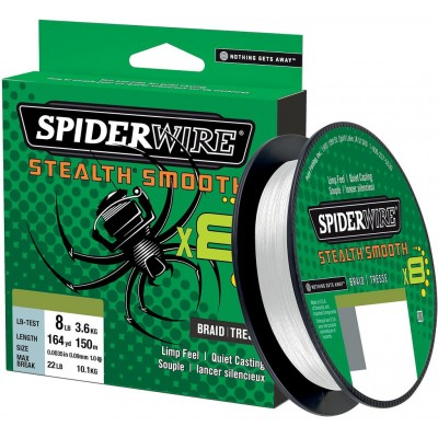 Braid Spiderwire Stealth Smooth8 150 m Invisible
