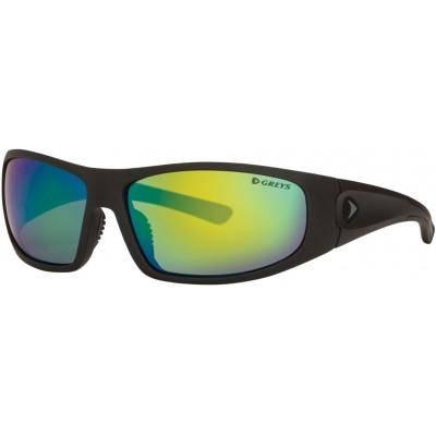 Polarizing Glasses Greys G1 Sunglasses Matt Carbon/Green Mirror