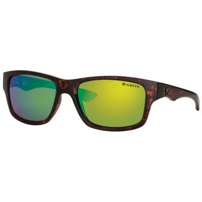 Polarizing Glasses Greys G4 Sunglasses Gloss Tortoise/GRN Mirror