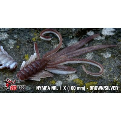 Nymph Redbass Nr. 1 X Brown/Silver 100 mm