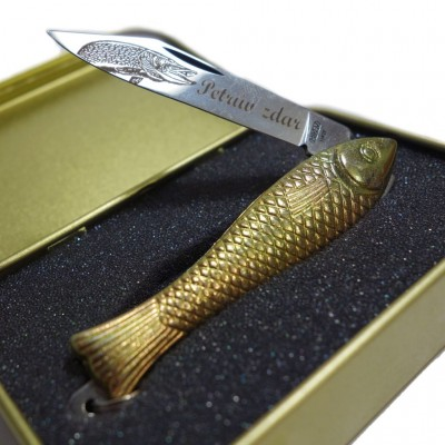 Knife Rybicka MIKOV Yellow - Petruv zdar + Gift Box