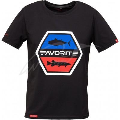 Rybářské tričko Favorite Tuna Pike Black