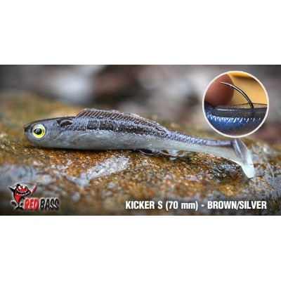 Ripper Redbass Kicker S 70 mm Brown/Silver