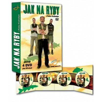 """Sada DVD pořadu """"Jak na ryby s Rudou Hrušínským"""""""