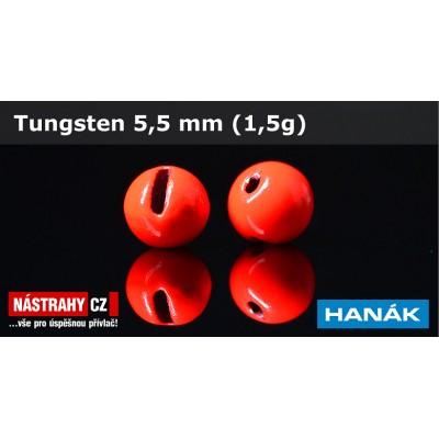 Tungsten Beads 5,5mm 1,5g Red