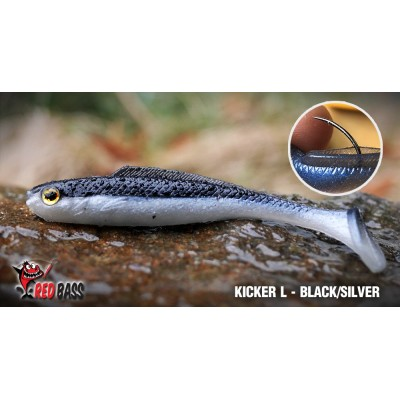 Ripper Redbass Kicker L 100 mm Black/Silver