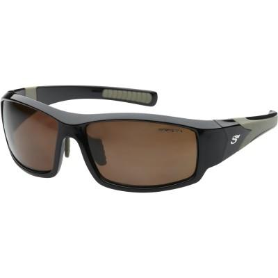 Polarizing Glasses Scierra Wrap Around Sunglasses Brown Lens