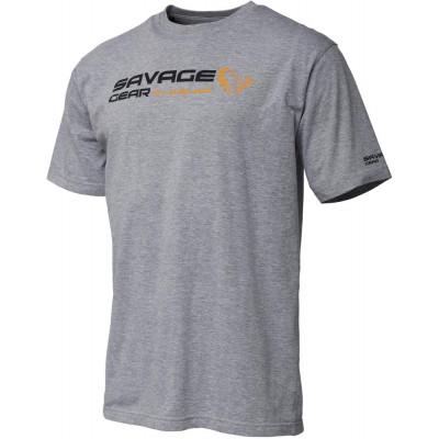 Savage Gear Signature Logo T-Shirt Grey Melange