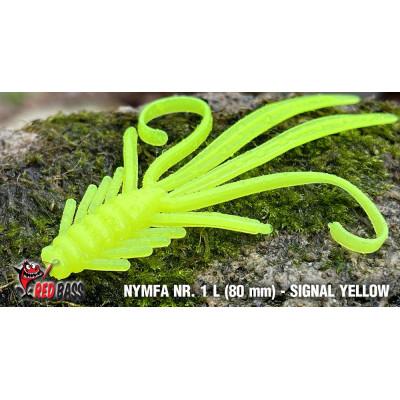 Nymph  Redbass Nr. 1 L 80 mm Signal Yellow