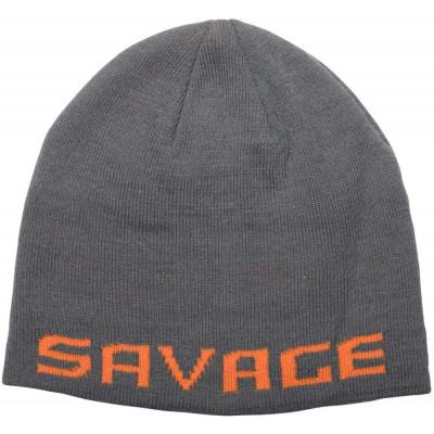 Savage Gear Logo Beanie One Size Rock Grey/Orange