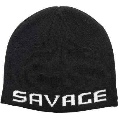Savage Gear Logo Beanie One Size Black/White
