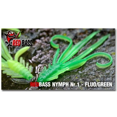 Nymfa Redbass 5,4 cm Fluo/Green