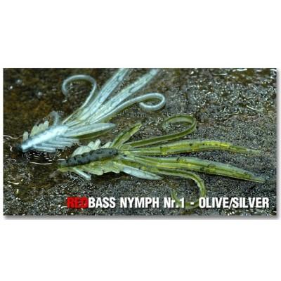 Nymph Redbass Nr. 1 Olive/Sliver