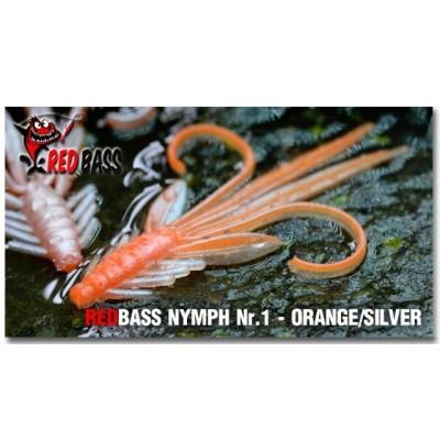 Nymph Redbass Nr. 1 Orange/Sliver