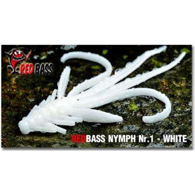 Nymph Redbass Nr. 1 White 53 mm