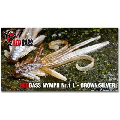 Nymph  Redbass Nr. 1 L Brown/Silver 80 mm