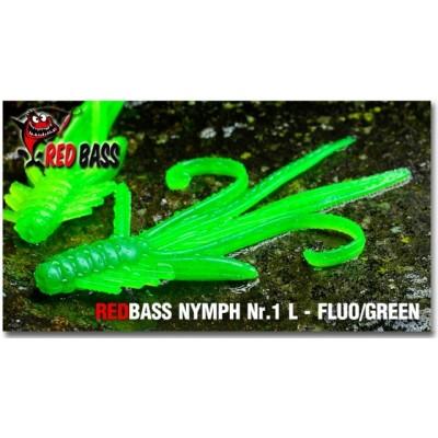 Nymph  Redbass Nr. 1 L Fluo/Green 80 mm