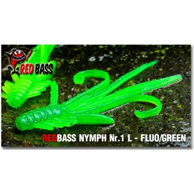 Nymph  Redbass Nr. 1 L Fluo/Green 80 mm