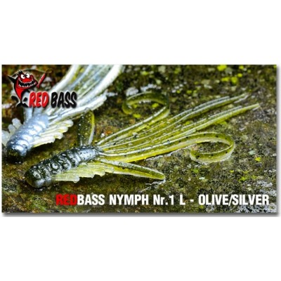 Nymph  Redbass Nr. 1 L Olive/Silver 80 mm