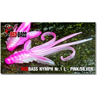 Nymph  Redbass Nr. 1 L Pink/Silver 80 mm